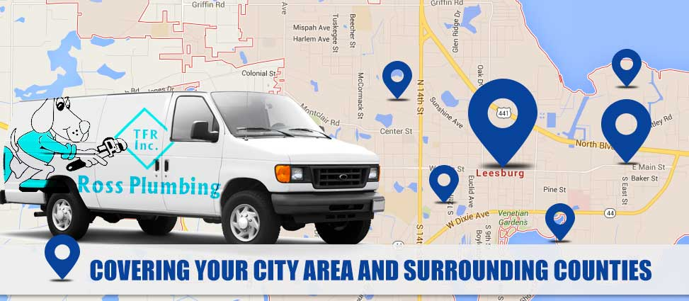 Leesburg Plumbing Locations | Ross Plumbing Map